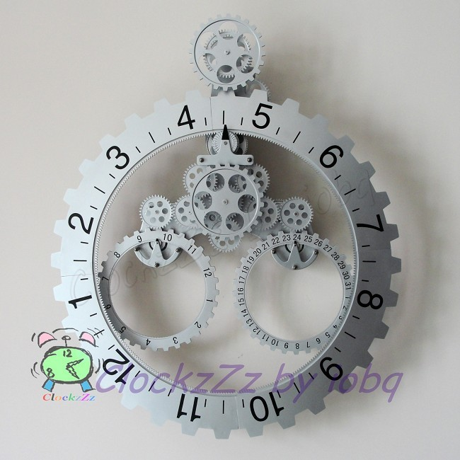 modern retro home decor mechanical large calendar round