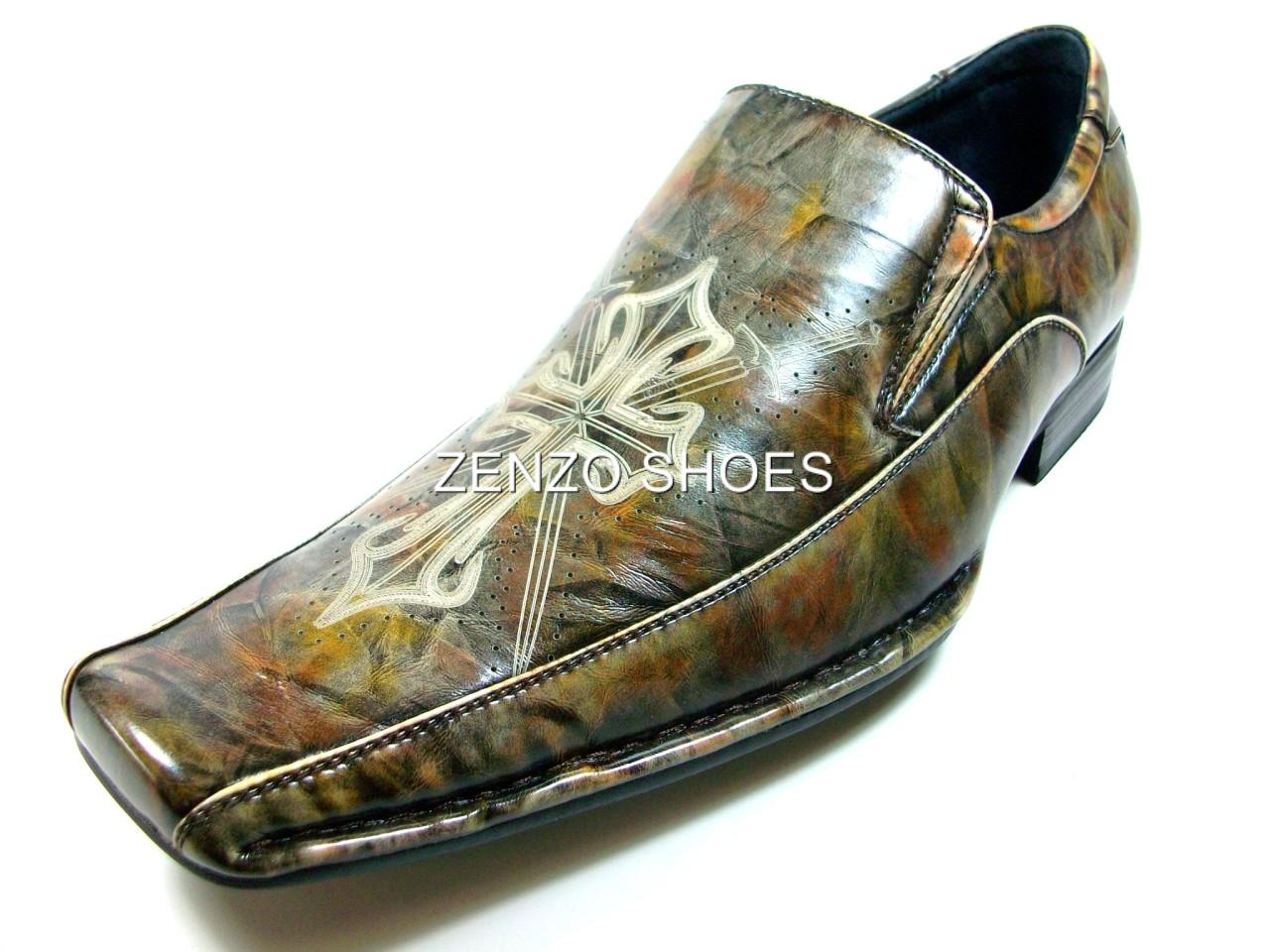 d aldo mens brown dress casual loafer shoes cross style ebay