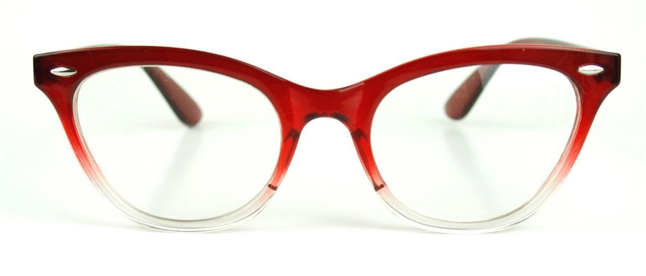 cat eye gradient frame clear lenses eyeglasses