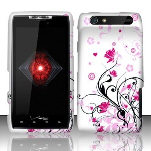 For Motorola Droid RAZR HD Hard Cover Phone Accessory Case Pink Vines