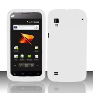 For Boost Mobile ZTE WARP Soft Gel Phone Cover WHITE SKIN CASE