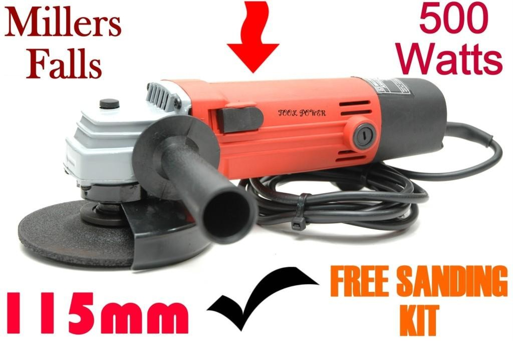 Angle-grinder-Millers-Falls-100mm-Sanding-kit-Branded-Item-with-service