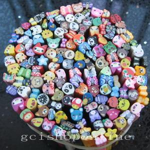 Lot 8 or 25 Nail Art Cane Clay Animal Slice DIY Mixed Fimo Polymer Choose ABCD``