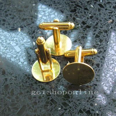 6 12 24 48 100 Choice Brass Blank Plated CuffLink CUFF LINK 9mm 12mm 15mm Pad