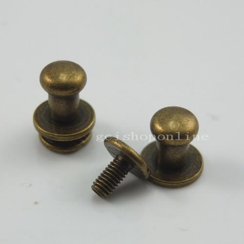 Choice head button stud screwback leather rivet