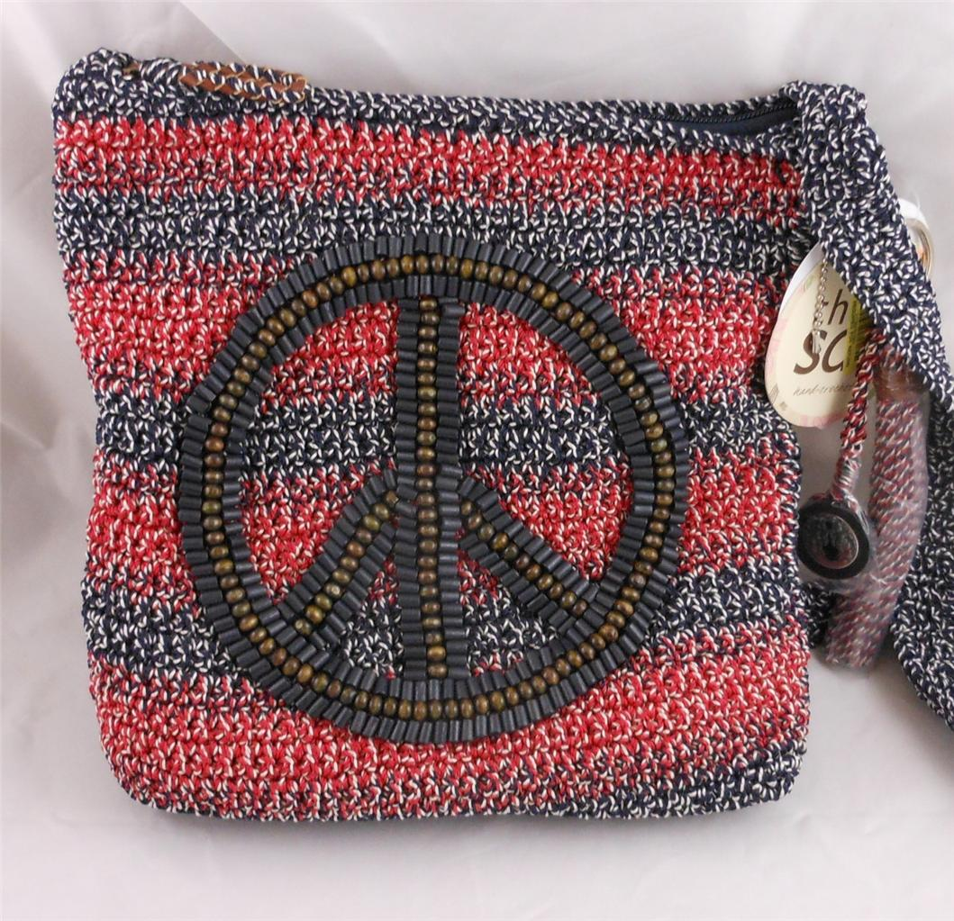 The-Sak-Crochet-Casual-Peace-Patriot-Stripe-Crossbody-Bag-Purse-NWT ...