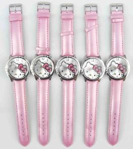 pcs Pink Hello Kitty Crystal wrist watch Clock Wholesale Lot of Xmas