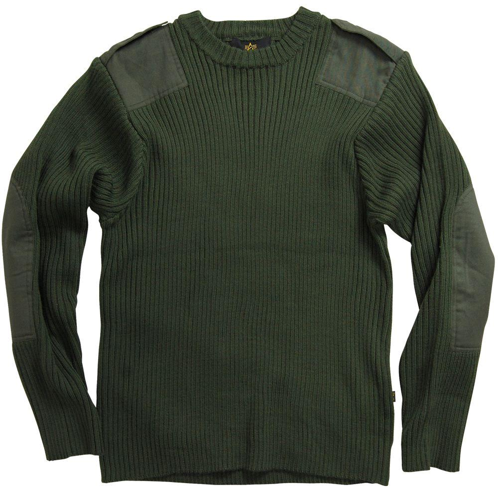 alpha industries commando sweater olive and black army. Black Bedroom Furniture Sets. Home Design Ideas
