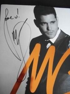 Michael Buble Hand Signed Autographed Concert Tour Program Book
