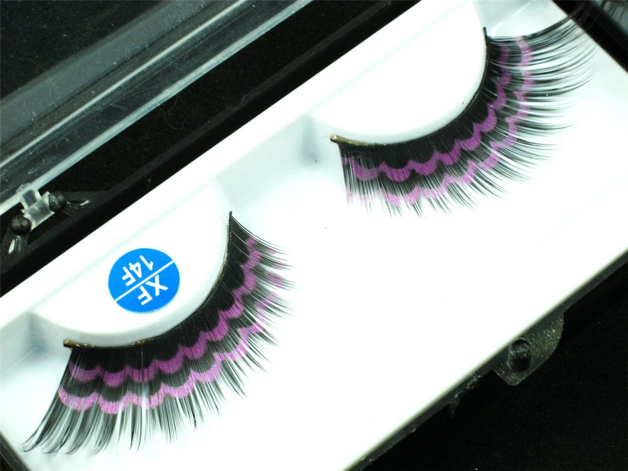 how to put on individual fake eyelashes yourself