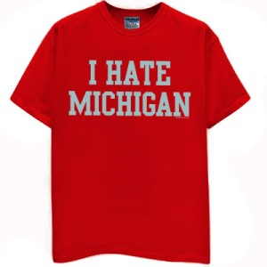MICHIGAN t-shirt buckeyes jersey ohio vintage state throwback funny ...
