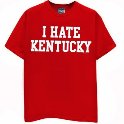 I hate kentucky t shirt hoosiers jersey indiana basketball for Indiana basketball t shirt