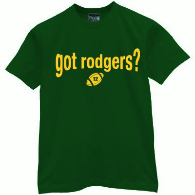 Got rodgers t shirt packers jersey green bay aaron funny for Green bay packers retro shirt