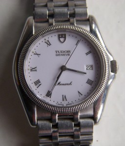 Vintage tudor geneve monarch s s quartz watch for mens working ebay for Tudor geneve watches