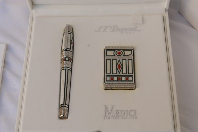 St Dupont Medici Limited Edition Duo Set Lighter