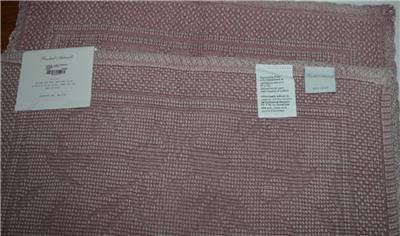 RACHEL ASHWELL COUTURE Crochet Soft Pink Lace BATH MAT NWT