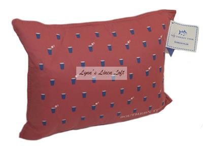Southern Tide Skipjack Chino Happy Charleston Red Decorative Breakfast Pillow Ebay