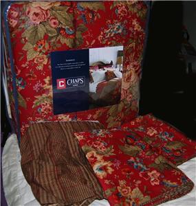 Ralph Lauren Chaps Somerset Queen Comforter Set New 1st Ebay
