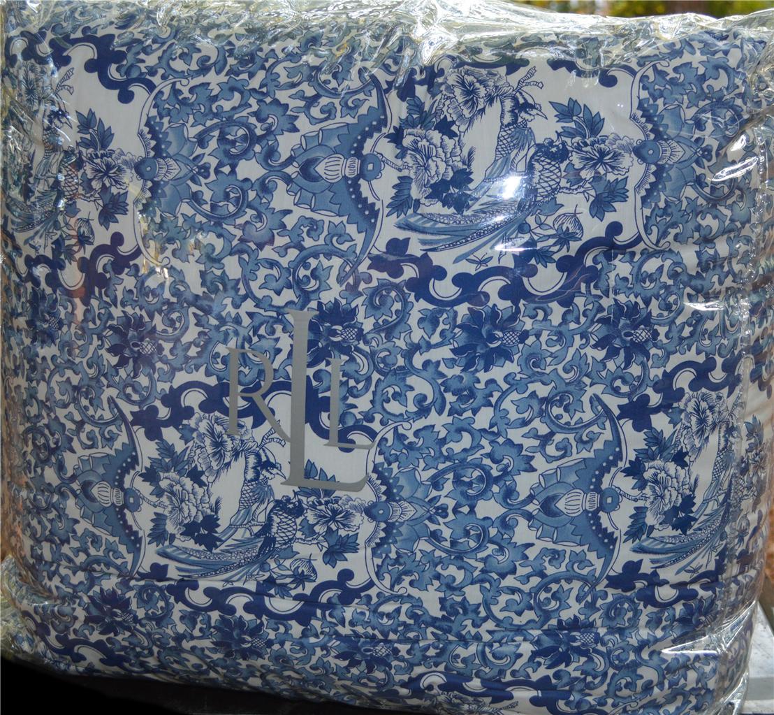 Ralph Lauren Porcelain Blue King Or Queen Comforter New Ebay