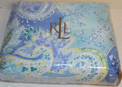 4 Piece Ralph Lauren Jamaica Paisley Blue Full Queen