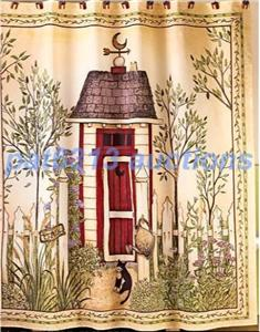 Rustic Primitive Country Outhouse Shower Curtain Spivey