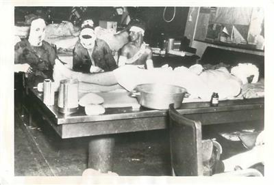 WWII 2nd Battle of Philippine Sea Casualties in Make-Shift ...