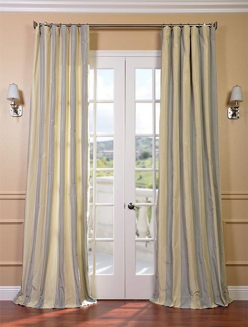 Hampton Faux Silk Taffeta Stripe Curtains Amp Drapes Ebay