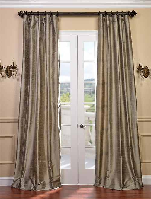 Cashmere Textured Dupioni Silk Curtains & Drapes | eBay