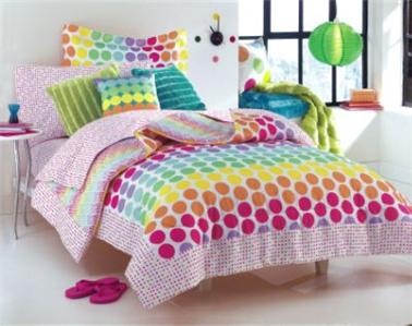 Cosmo Girlmulti Color Rainbow Polka Dots Candy Dot Full
