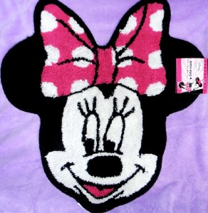 disney minnie mouse face 100 cotton rug bedroom bath 16201 | 670020095 tp