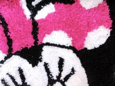 disney minnie mouse face 100 cotton rug bedroom bath 16201 | 670020101 tp