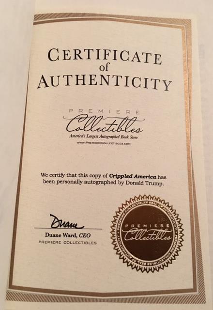 PRESIDENT Donald Trump Signed Crippled America #63 Low ...