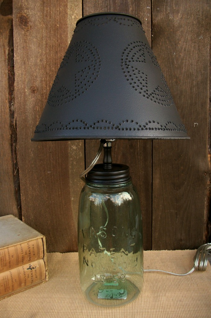 Primitive Country Punched Tin 10 Quot Clip On Lamp Shade Star