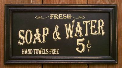 14 Quot Old Vtg Bath House Hotel Style Soap Amp Water