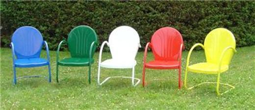 1 Retro Tulip Outdoor Metal Patio Chair Brand New