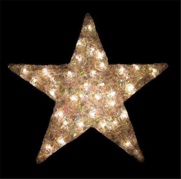 "LARGE 21"" ACRYLIC LIGHTED STAR 35 LIGHTS INDOOR/OUTDOOR ..."