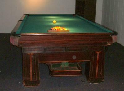 1923 brunswick balke collender co monarch cushions pool. Black Bedroom Furniture Sets. Home Design Ideas