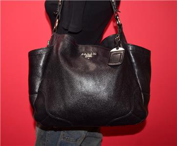1eb64a046bf1d PRADA Vitello DAINO Black Pebbled Leather Hobo Shoulder Bag Purse Italy