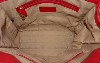 1060083533 tp - COLE HAAN VINTAGE VALISE II Red Leather Shoulder Tote Shopper N/S Work Bag Purse