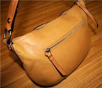 COACH Brown Leather SOHO Woven Handle Hobo Sling Tote . 65e70f11959ca