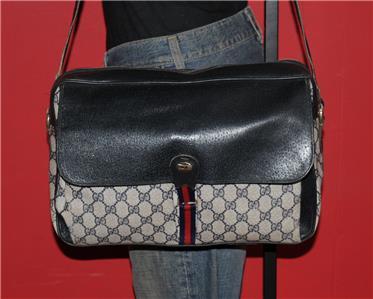 26e275548b677d Vintage Gucci Monogram Tote Bag. Vintage Gucci Monogram Tote Shoulder Bag  Handbag ...