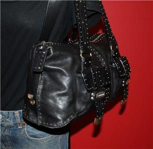 eb4da1cf8083 Black Leather Tote Bags With Silver Studs | Stanford Center for ...