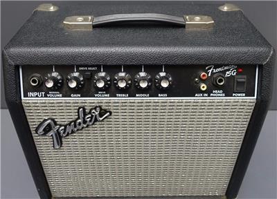fender frontman 15g guitar amplifier microphone 120v 38w pr495. Black Bedroom Furniture Sets. Home Design Ideas