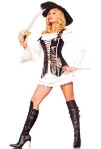 Adult Ladies Buccaneer Caribbean Pirate Lady Fancy Dress Costume Captain 51963