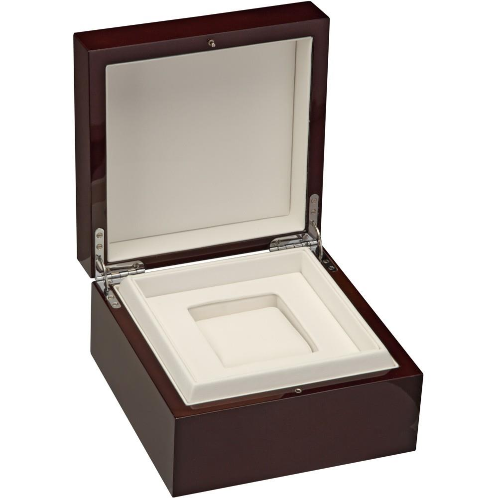 Luxury Watch Box Black Piano Cherry Wood Finish Item