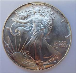 1986 1 Oz Silver Walking Liberty American Eagle Dollar