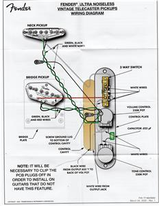 Fender Noiseless Telecaster Pickups Wiring Diagram from img.auctiva.com