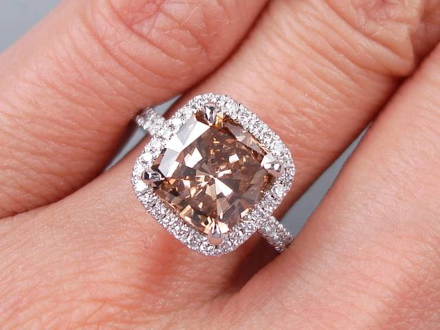 3 00 Carats Ct Tw Cushion Cut Diamond Engagement Ring