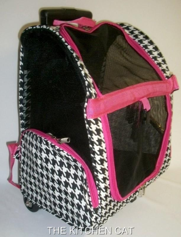 Wheeled Backpack Pet Carrier Small Dog Puppy Handle Rolling Airline Luggage Bag