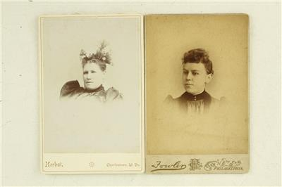 Vintage Carte De Visite CDV Photo Lot All Women Civil War Era Hairstyles VA WV